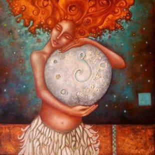 mujer-con-la-luna